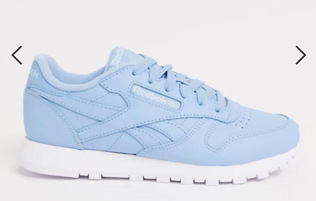 Light blue Reekbok sneaker