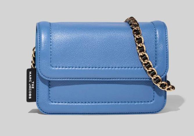 Blue Marc Jacobs mini cushion bag