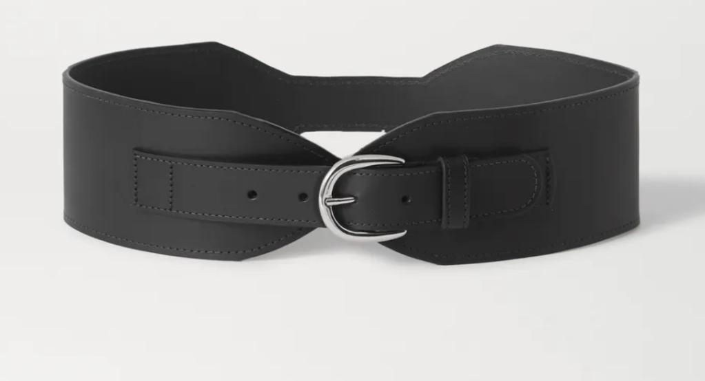 Wide black waist belt from Black & Brown at Net-a-Porter