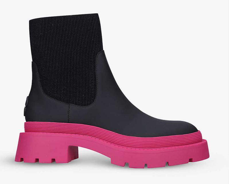 Carvela pink contrast sole boot